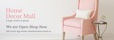 Ontwerpsjabloon van Tumblr van Furniture Shop Ad Pink Cozy Armchair
