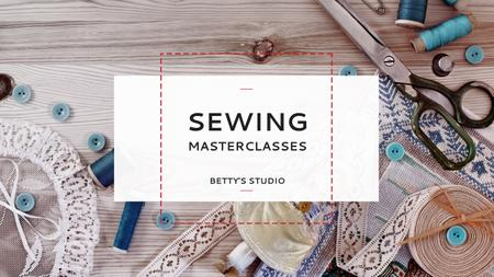 Modèle de visuel Sewing day event - Youtube
