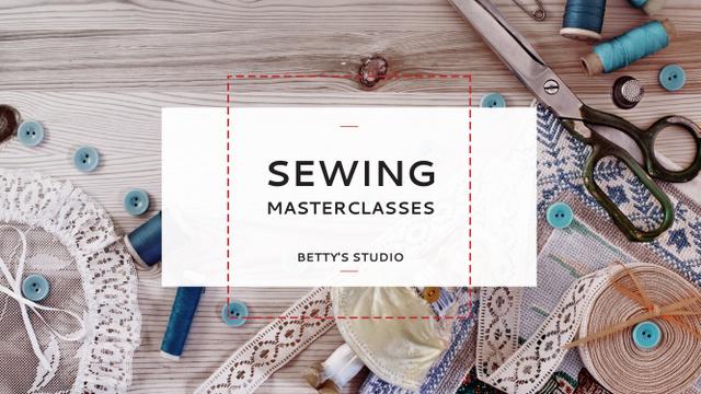 Plantilla de diseño de Sewing day event Youtube
