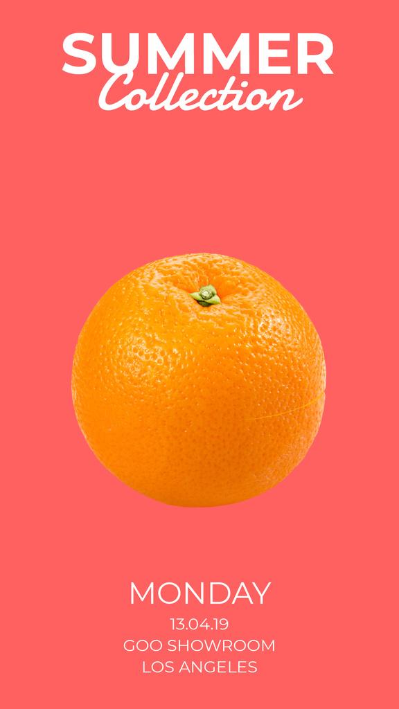 Sale Offer Orange Split in Halves — Crear un diseño