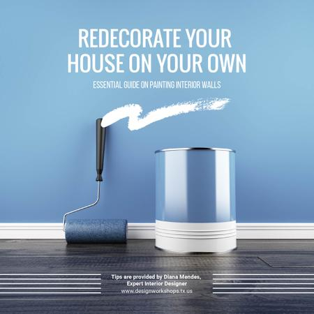 Plantilla de diseño de Tools for Home Renovation in Blue Instagram AD