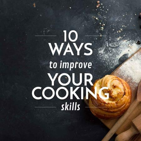 Improving Cooking Skills with Freshly Baked Bun Instagram Design Template