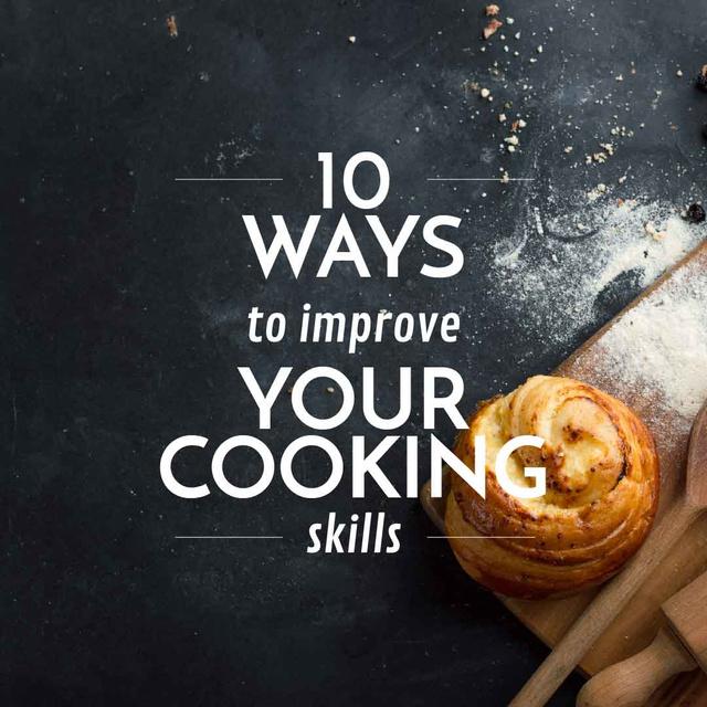 Ontwerpsjabloon van Instagram van Improving Cooking Skills with Freshly Baked Bun