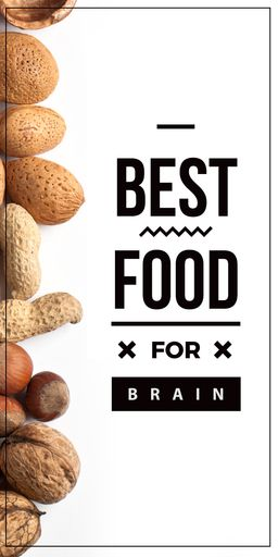 Best Food For Brain Quote With Nuts BlogGraphics