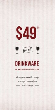 Drinkware Sale Glass with red wine