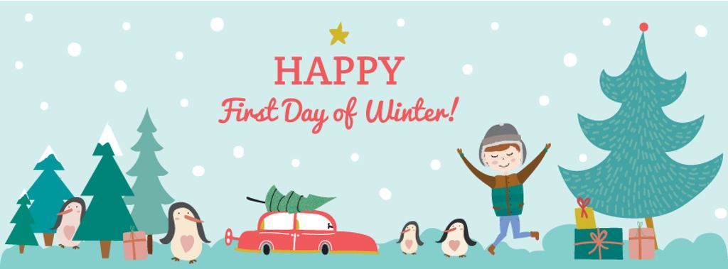Happy first day of Winter — Crea un design