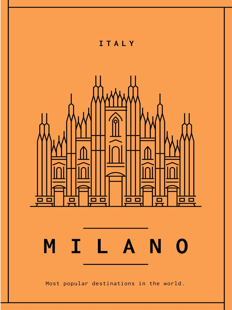 Milano cathedral graphic poster — Создать дизайн