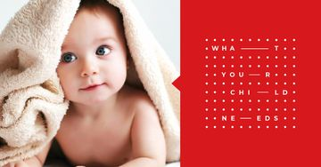 Cute Baby in Towel | Facebook Ad Template