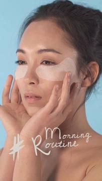 Beauty Routine Ad Woman applying Patches