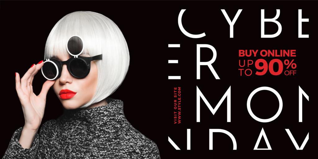 Cyber monday sale poster — Créer un visuel