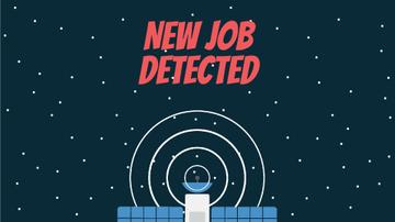 Job Detection Satellite Sending Signal in Space