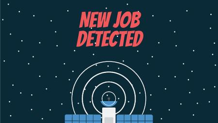 Ontwerpsjabloon van Full HD video van Job Detection Satellite Sending Signal in Space
