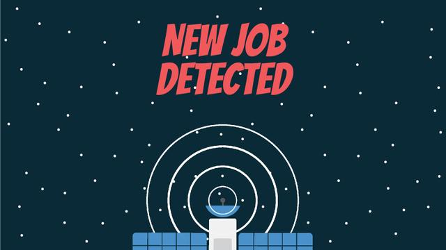 Job Detection Satellite Sending Signal in Space Full HD video – шаблон для дизайну
