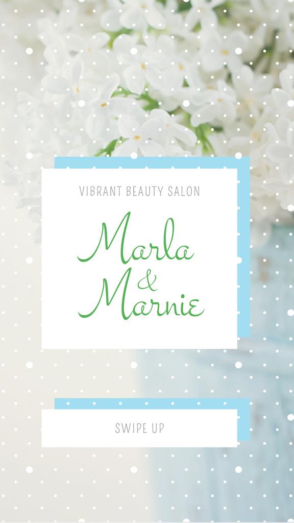 Beauty Salon Ad with Tender Flowers — Crear un diseño