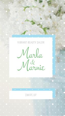 Beauty Salon Ad with Tender Flowers Instagram Story – шаблон для дизайна