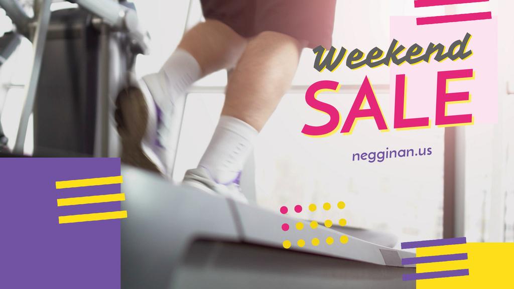 Gym Ticket Offer Man on Treadmill — Crear un diseño