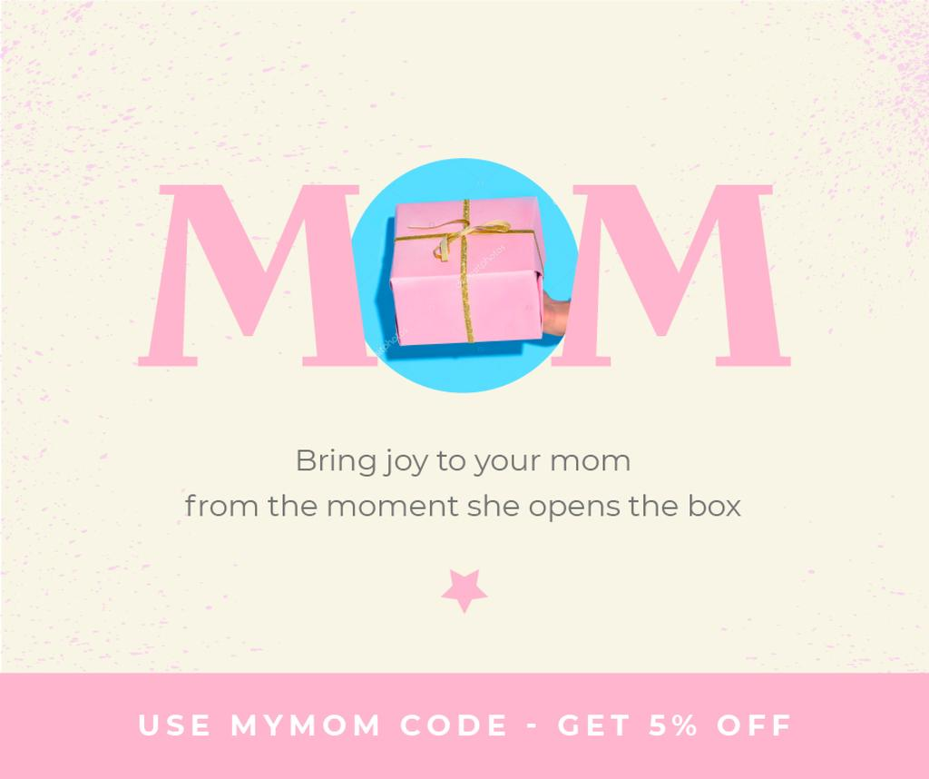 Gift Offer on Mother's Day in Pink —デザインを作成する