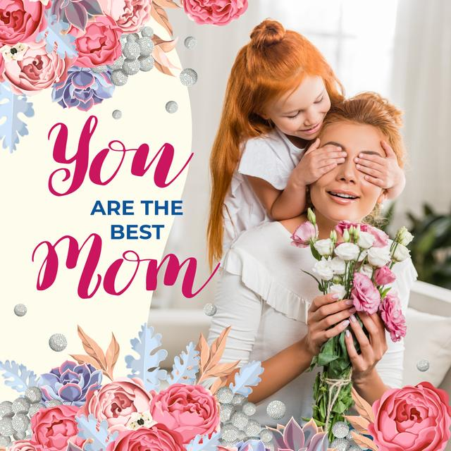Ontwerpsjabloon van Instagram van Mother's Day Greeting Daughter Surprising Her Mother