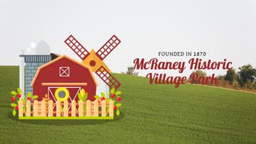Farm Barn and Windmill