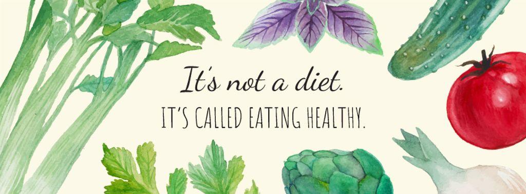 Vegetables for Healthy eating — Créer un visuel
