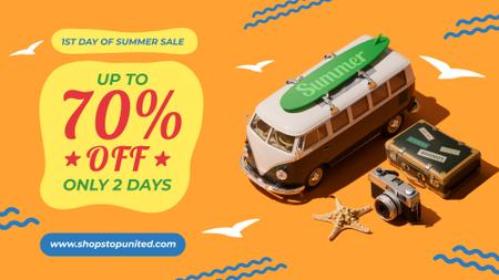 Template di design 1st Day of Summer Sale Toy Van and Summer Essentials FB event cover