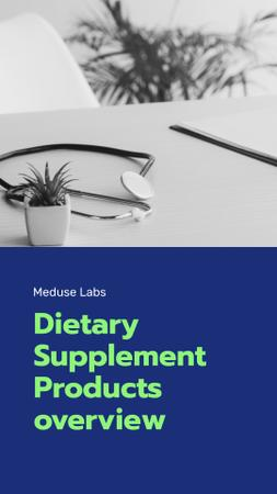 Dietary Supplements manufacturer overview Mobile Presentation Modelo de Design