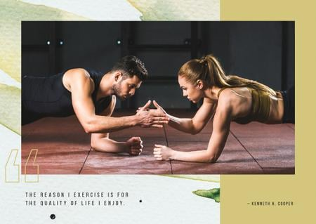 Couple training together Postcard Modelo de Design