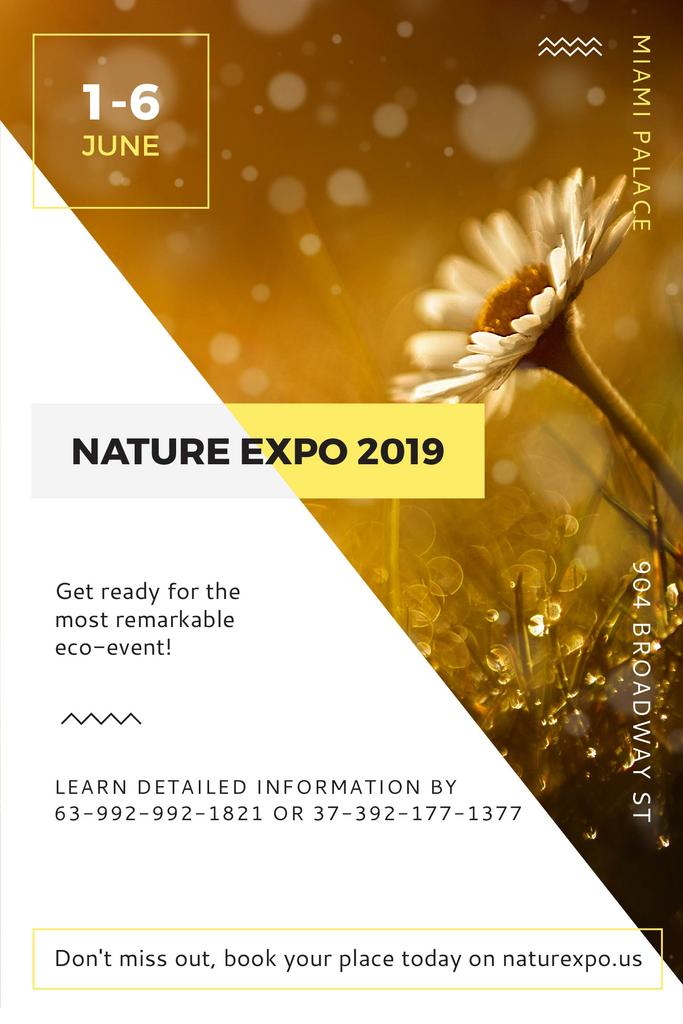 Nature Expo Announcement Blooming Daisy Flower — Crear un diseño