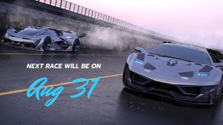 Futuristic Car racing Stream Twitch Offline Banner Modelo de Design