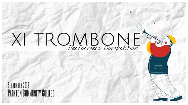 Concert Invitation Musician Playing Trombone Full HD video Modelo de Design