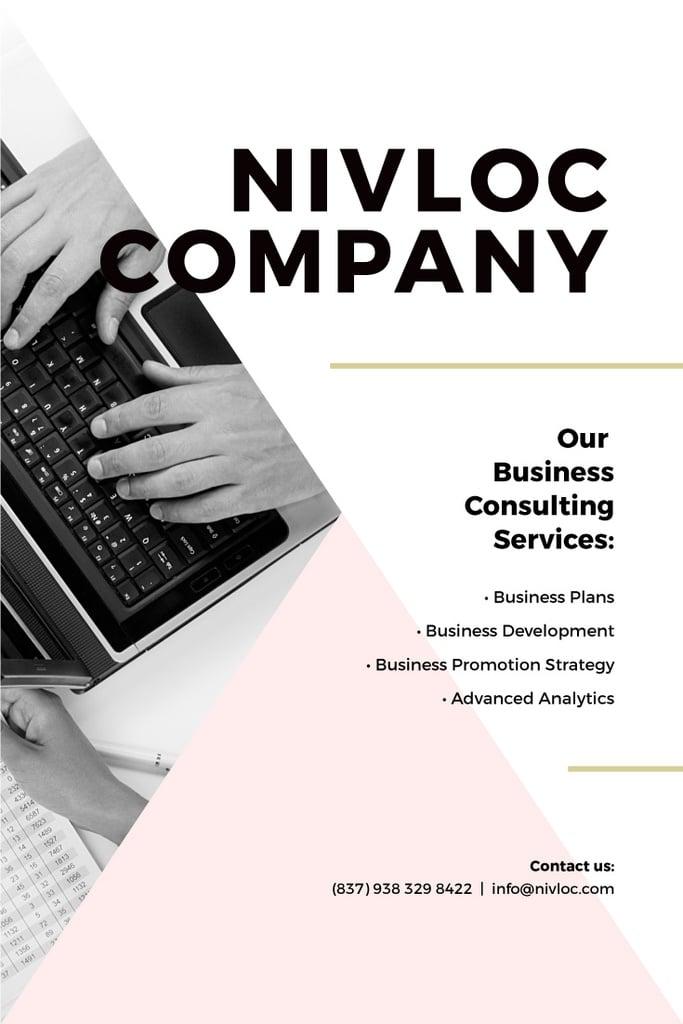 Business consulting services poster — ein Design erstellen