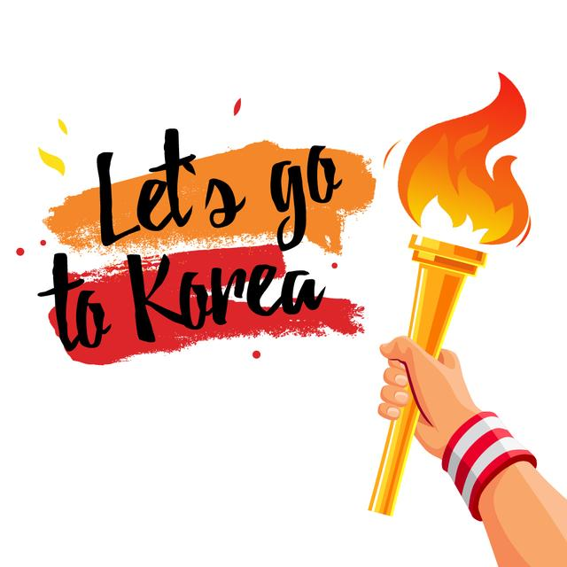 Template di design Hand With Olympic Fire Animated Post