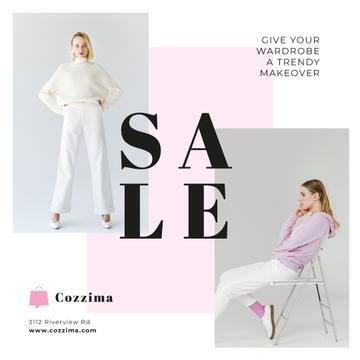 Clothes Sale Woman in White Clothes