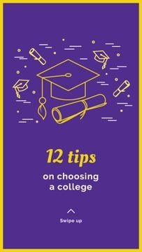 Choosing college tips with Graduation Cap