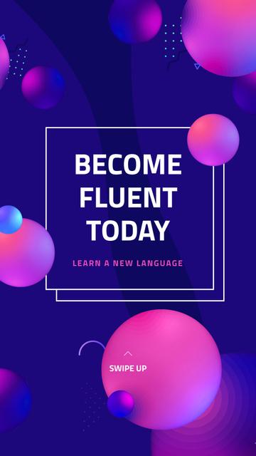 Language Course Offer Instagram Story Modelo de Design