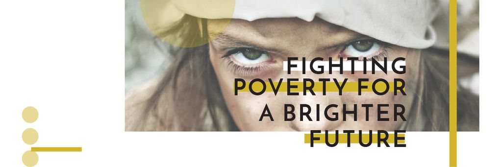 Citation about Fighting poverty for a brighter future — Создать дизайн