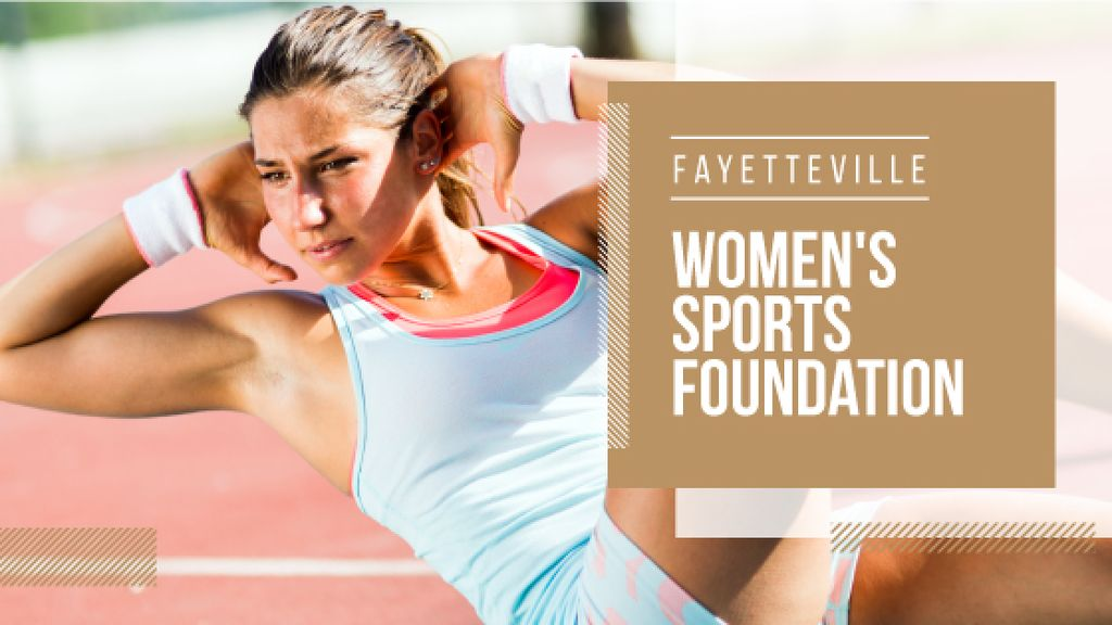 Womens sports foundation poster — Crea un design
