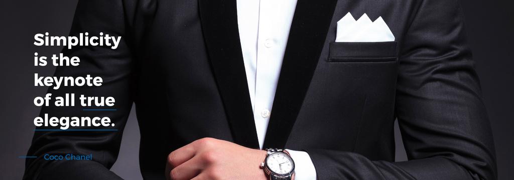 Elegance Quote Businessman Wearing Suit — Maak een ontwerp