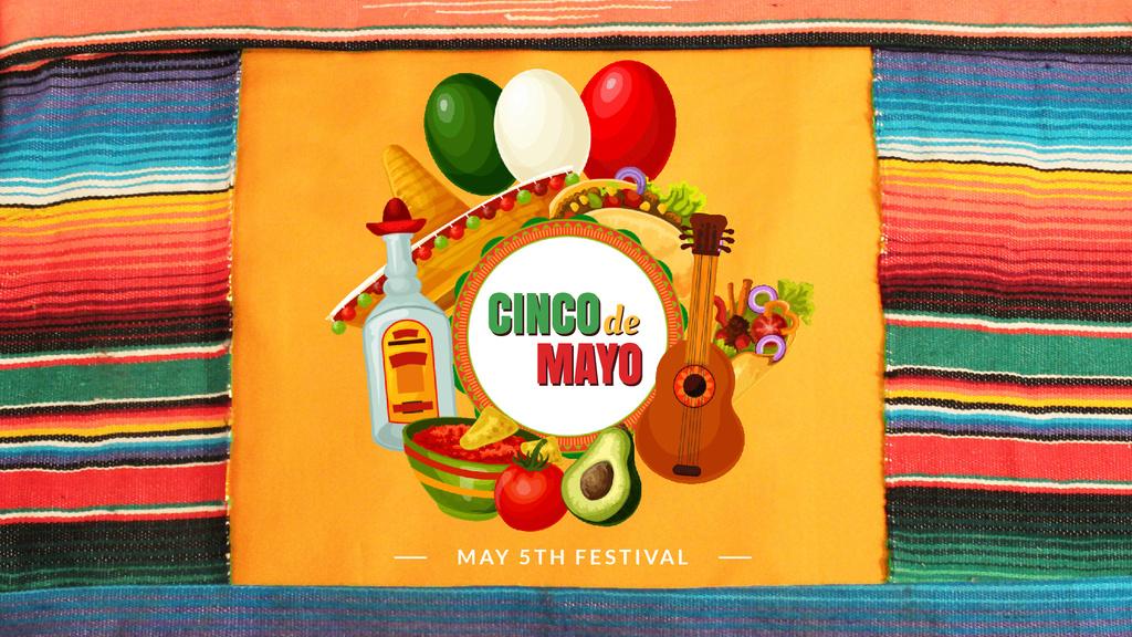 Cinco de Mayo Mexican holiday — ein Design erstellen