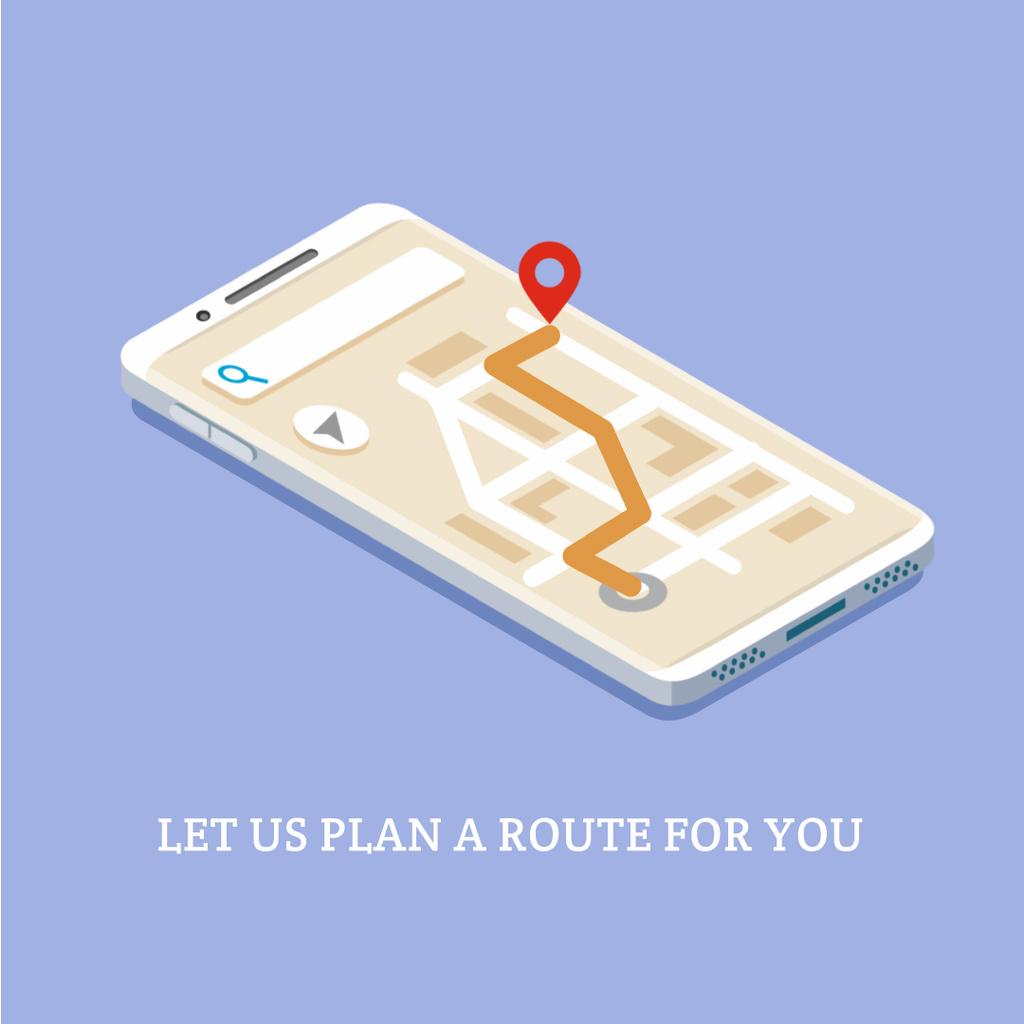 Navigation app on phone screen —デザインを作成する