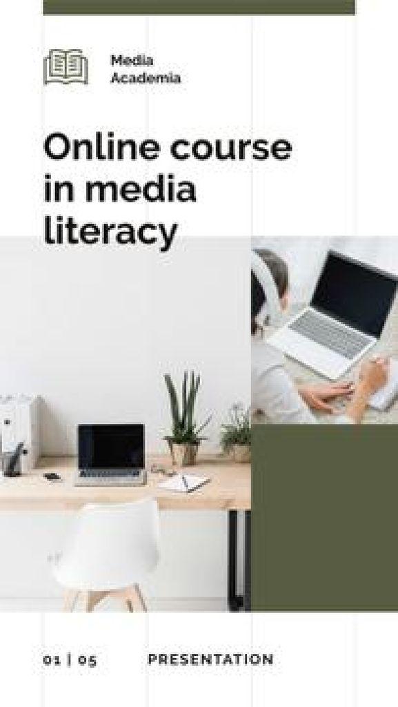 Online Courses promotion Mobile Presentation – шаблон для дизайна