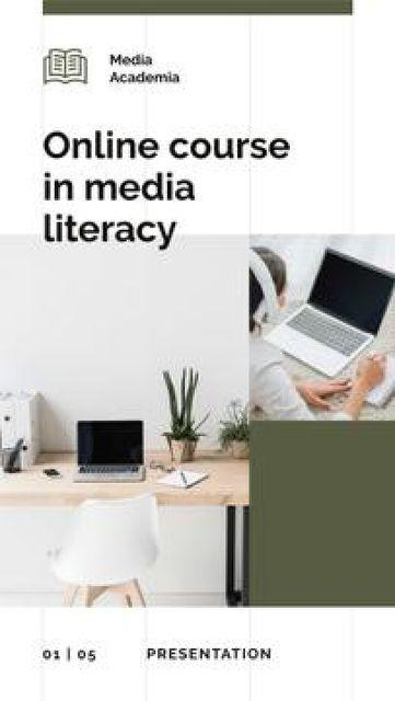 Plantilla de diseño de Online Courses promotion Mobile Presentation
