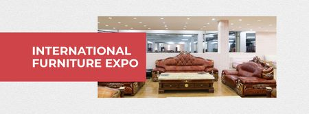 Plantilla de diseño de Furniture Expo invitation with modern Interior Facebook cover
