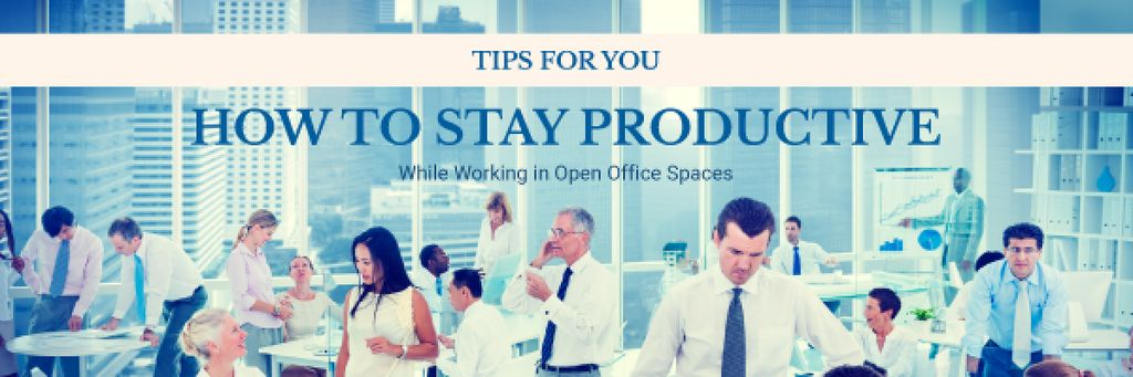 How to stay productive tips banner — Créer un visuel