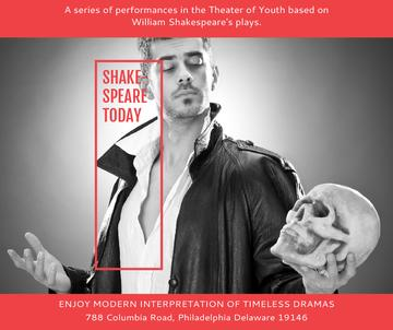 Theater Invitation Actor in Shakespeare's Performance