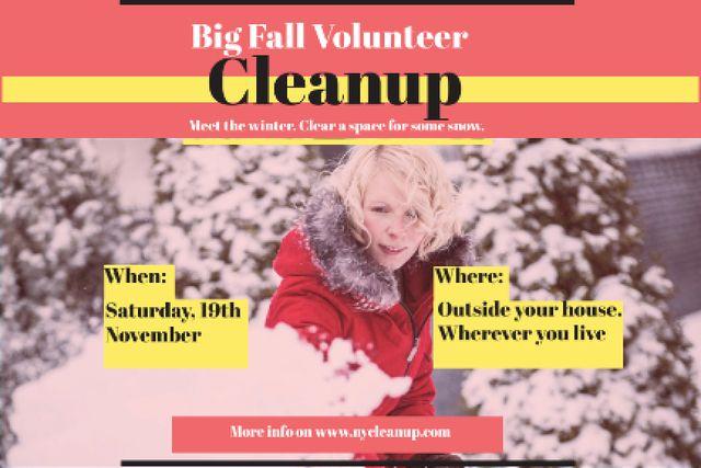 Winter Volunteer clean up Gift Certificate Design Template