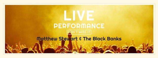Live performance Announcement with Crowd on Concert Facebook cover Modelo de Design