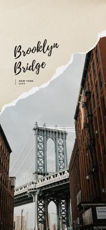 Plantilla de diseño de New York city bridge Snapchat Geofilter