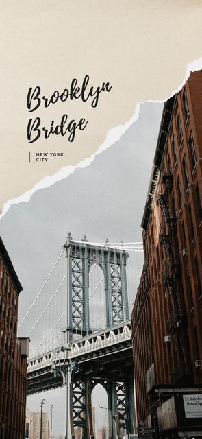 Designvorlage New York city bridge für Snapchat Geofilter