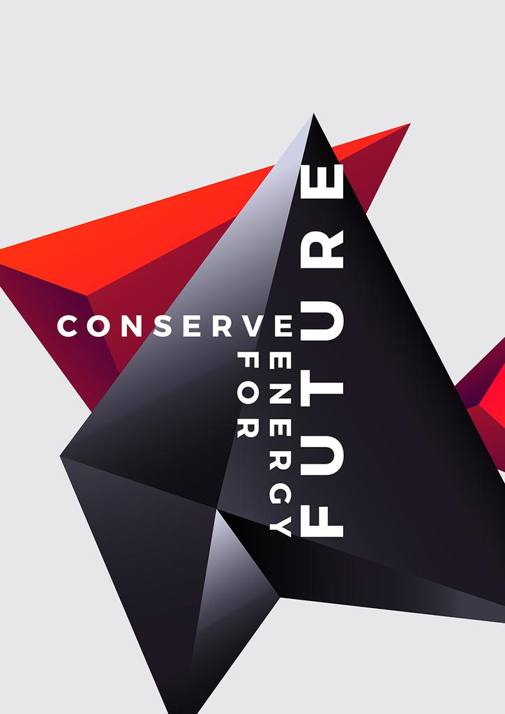 Concept of Conserve energy for future — ein Design erstellen